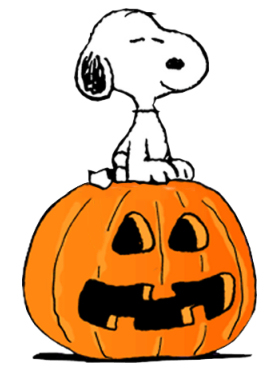 snoopy on a pumpkin